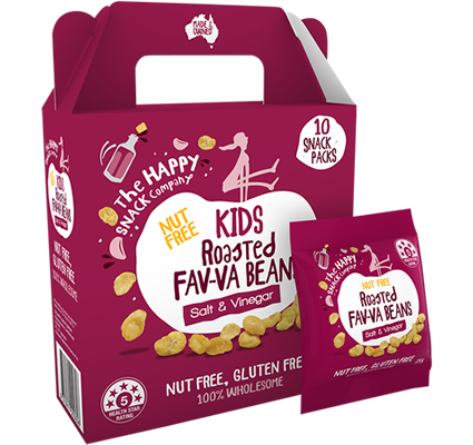 KIDS Roasted FAV-VA BEANS Salt And Vinegar